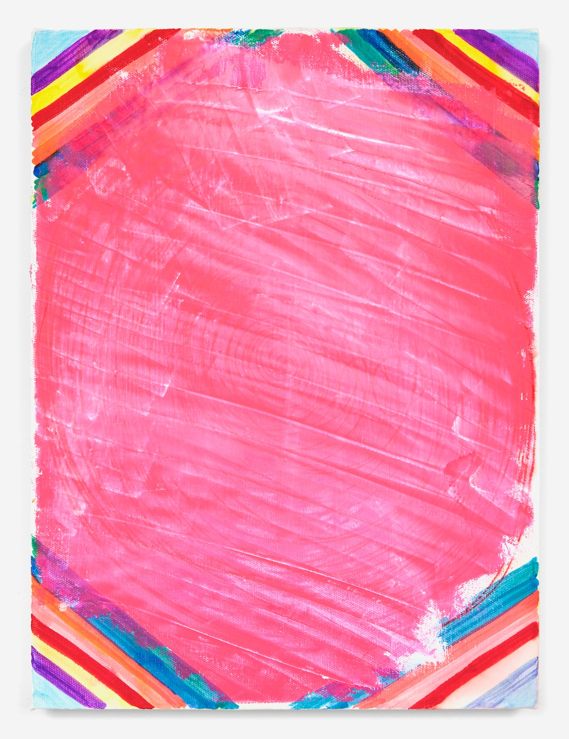 Joanne Greenbaum  Untitled  2011 Oil, acrylic and mixed media on linen 16h x 12w in JG040