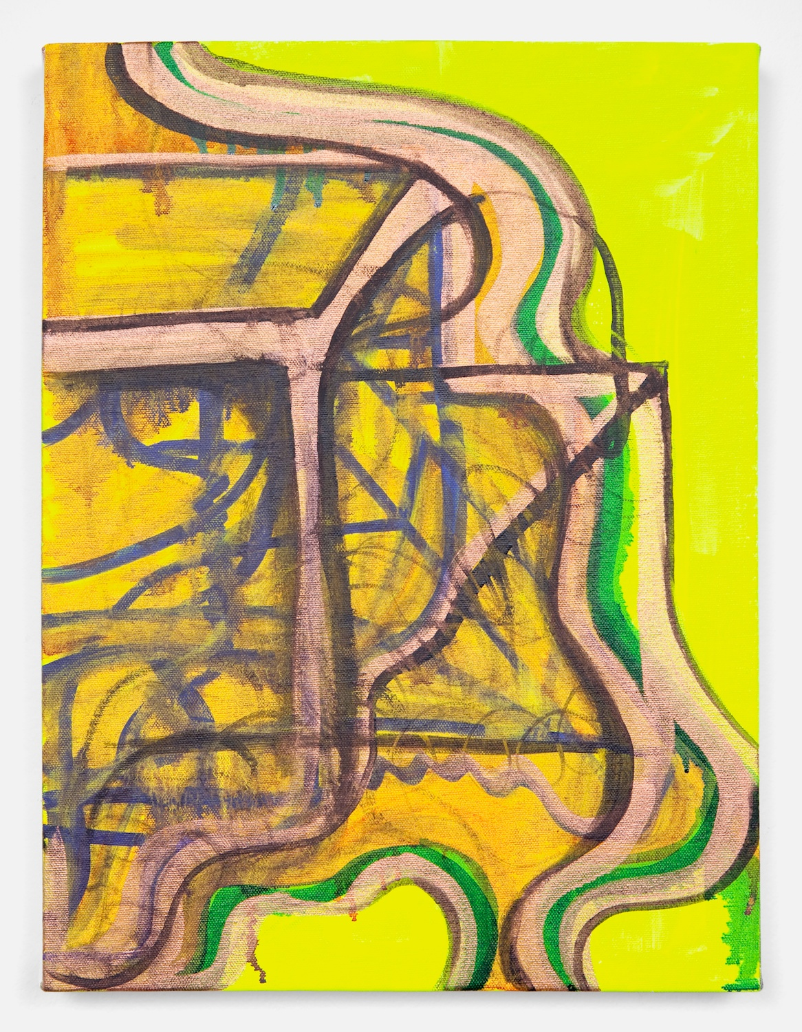 Joanne Greenbaum  Untitled  2011 Oil, acrylic and mixed media on linen 16h x 12w in JG039