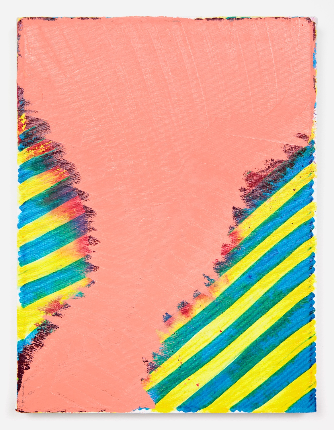 Joanne Greenbaum  Untitled  2011 Oil, acrylic and mixed media on linen 16h x 12w in JG036