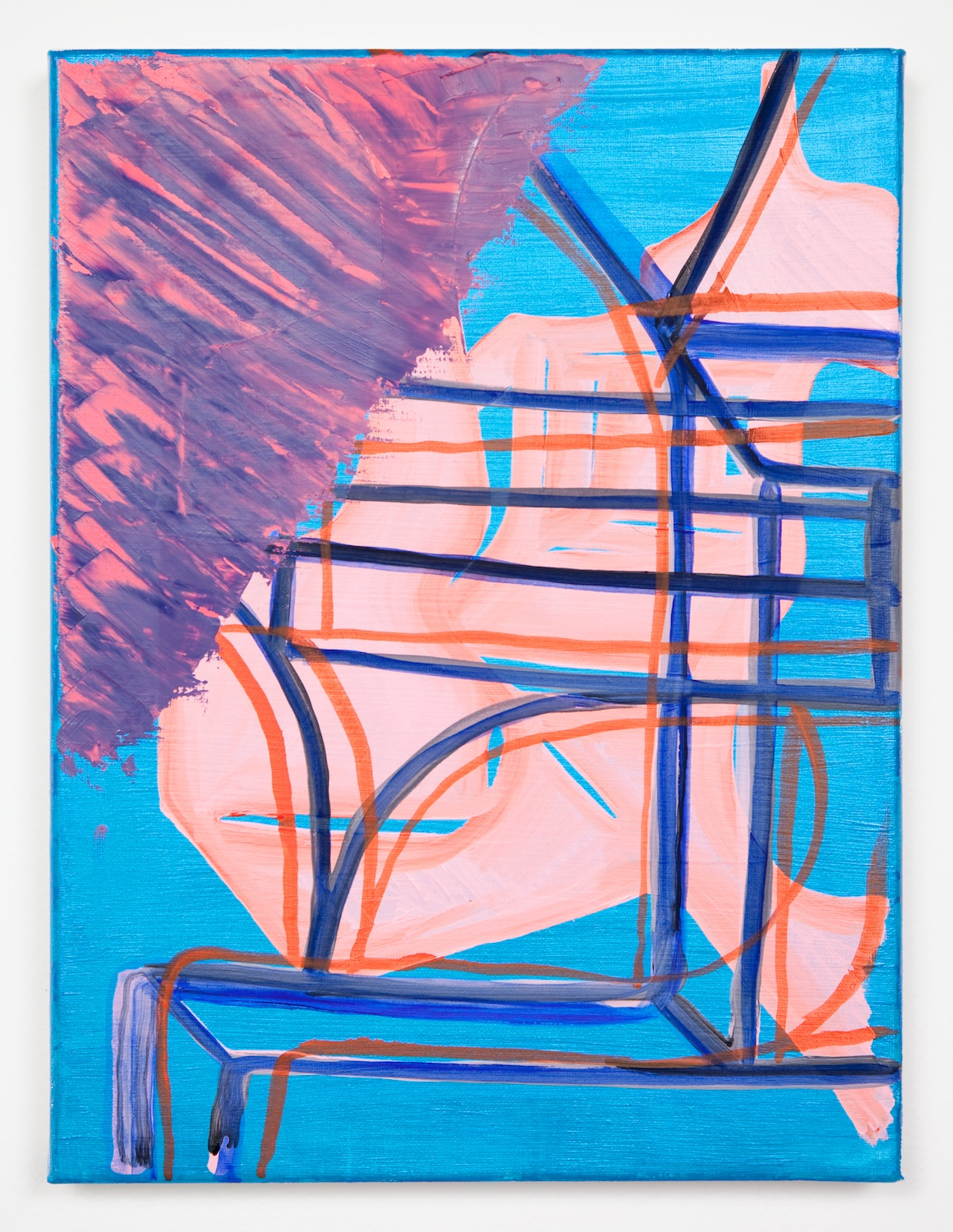 Joanne Greenbaum  Untitled  2011 Oil, acrylic and mixed media on linen 16h x 12w in JG032