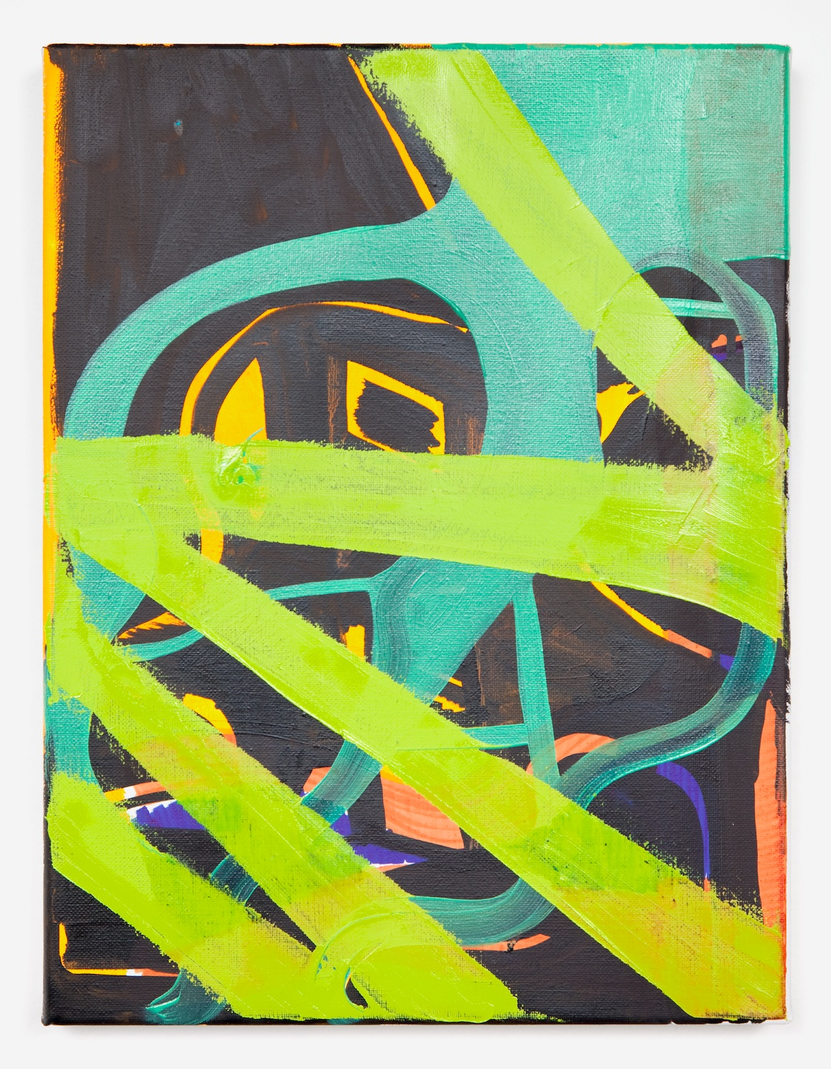 Joanne Greenbaum  Untitled  2011 Oil, acrylic and mixed media on linen 16h x 12w in JG029