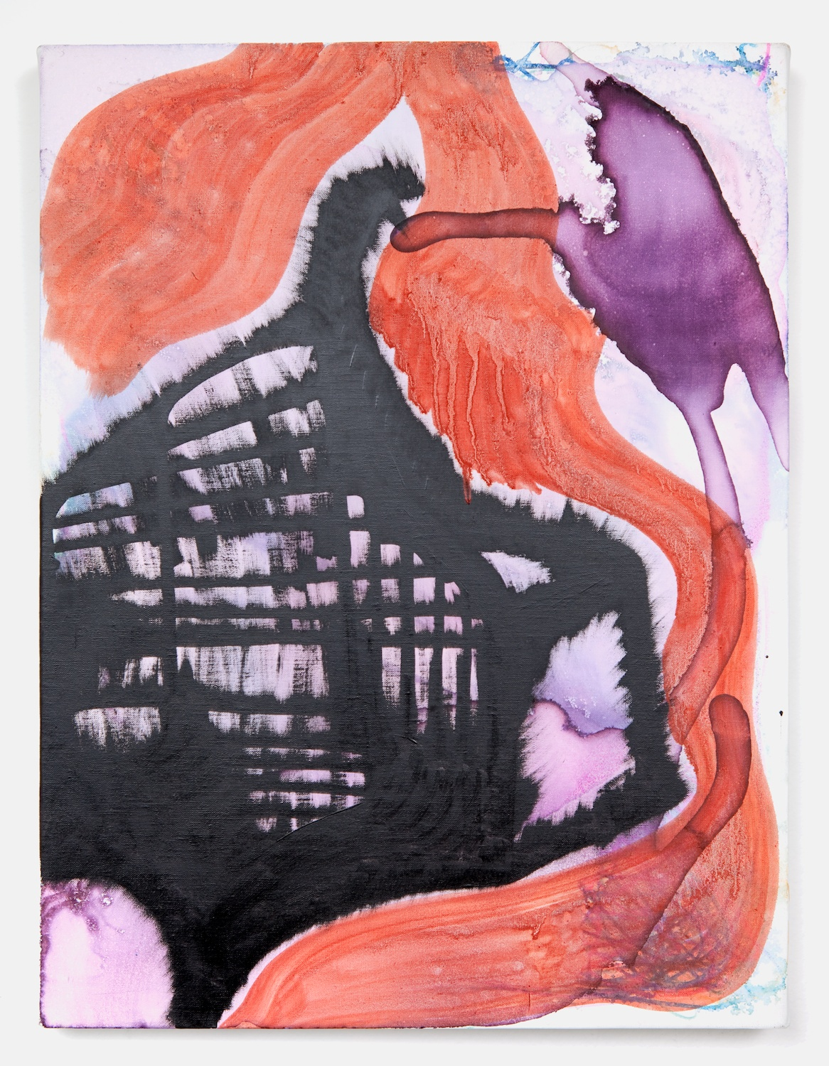 Joanne Greenbaum  Untitled  2011 Oil, acrylic and mixed media on linen 16h x 12w in JG027