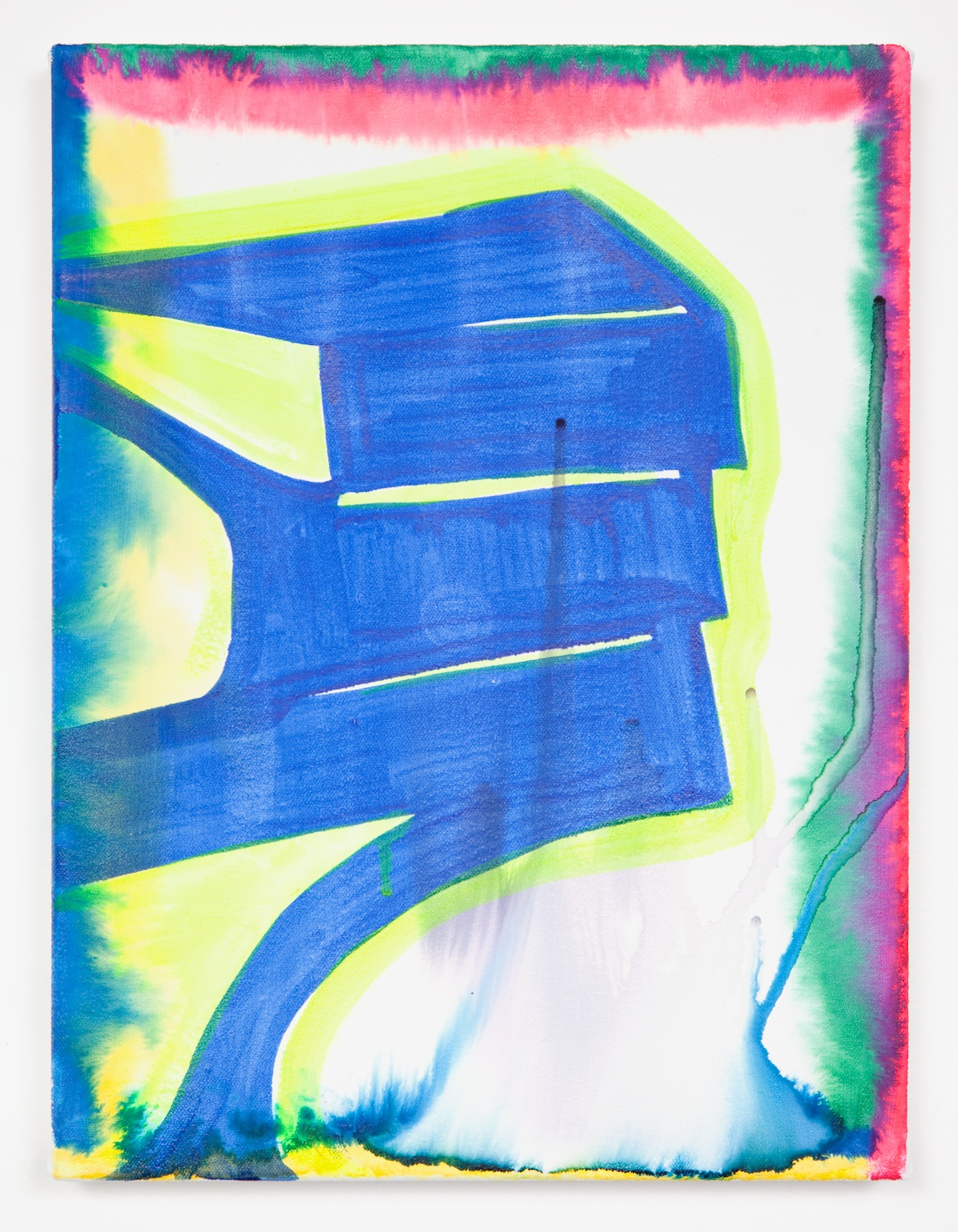 Joanne Greenbaum  Untitled  2011 Oil, acrylic and mixed media on linen 16h x 12w in JG025