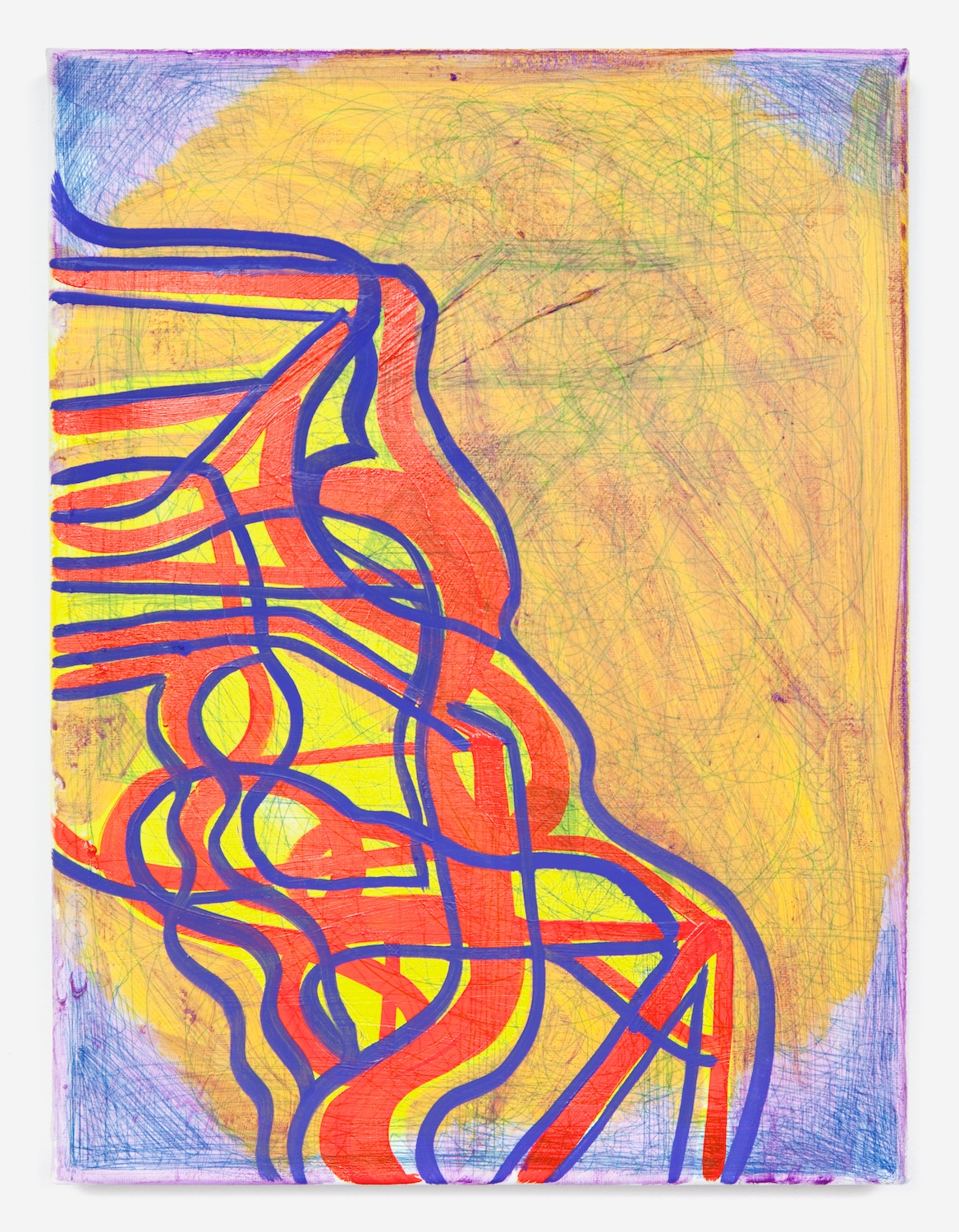 Joanne Greenbaum  Untitled  2011 Oil, acrylic and mixed media on linen 16h x 12w in JG024