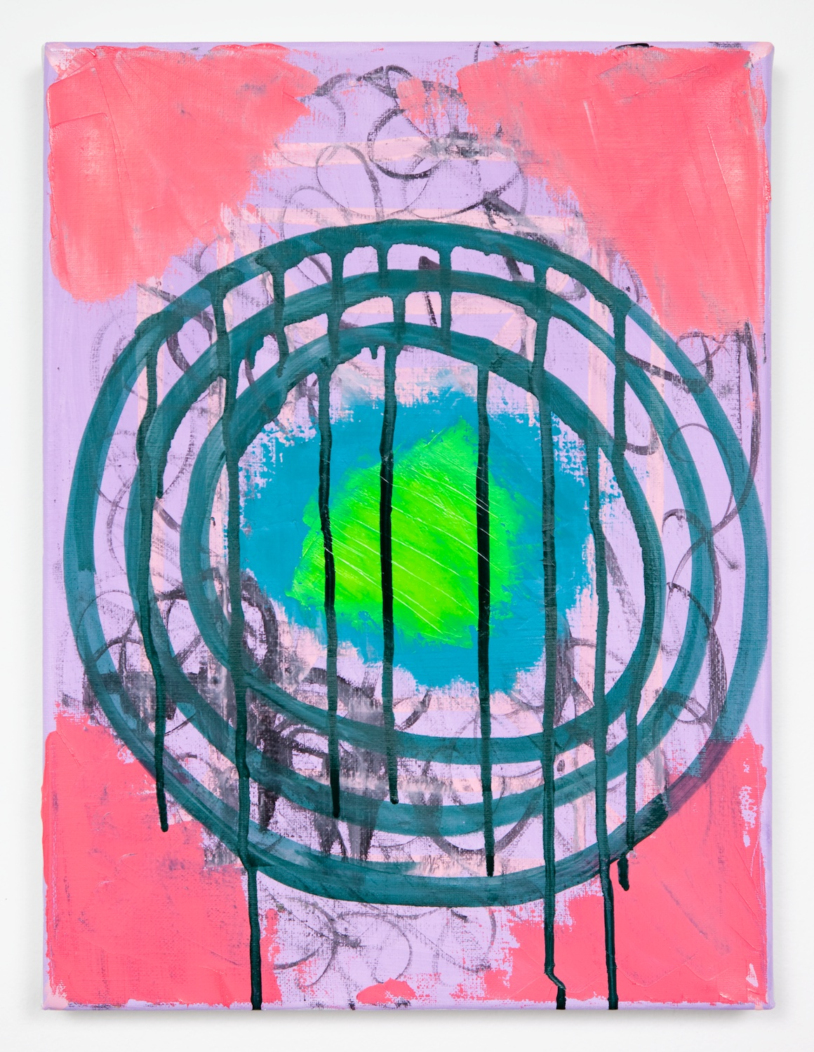 Joanne Greenbaum  Untitled  2011 Oil, acrylic and mixed media on linen 16h x 12w in JG023