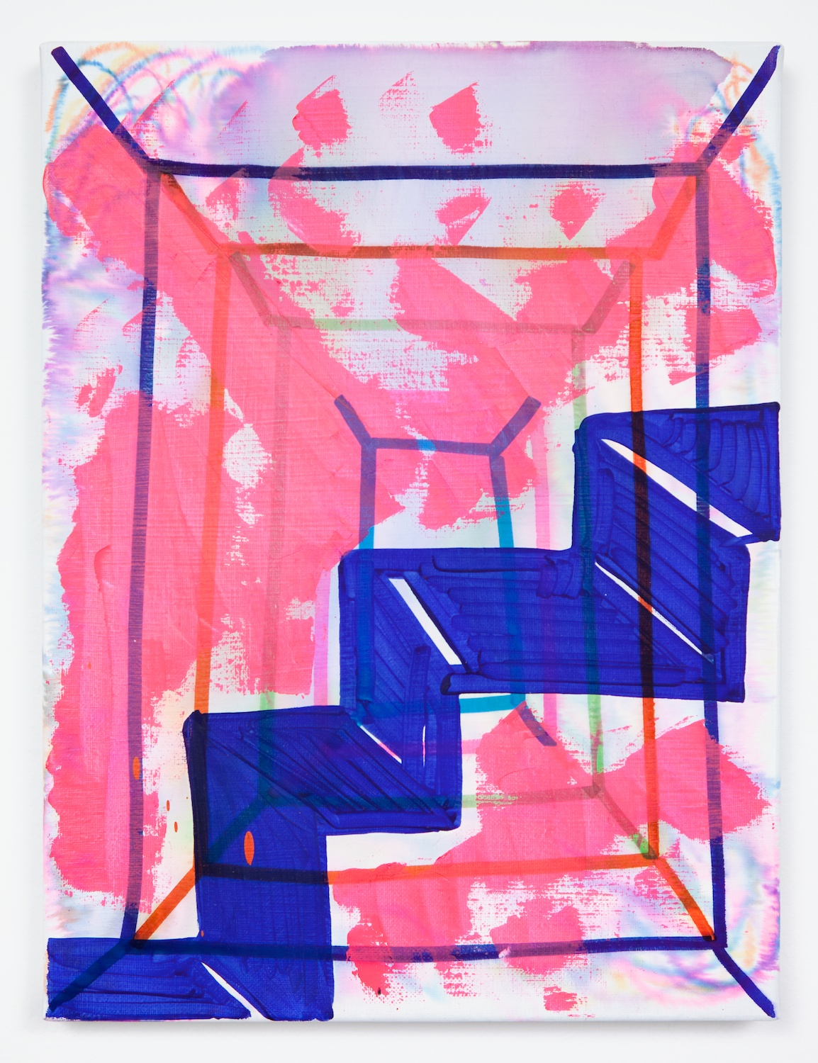 Joanne Greenbaum  Untitled  2011 Oil, acrylic and mixed media on linen 16h x 12w in JG022
