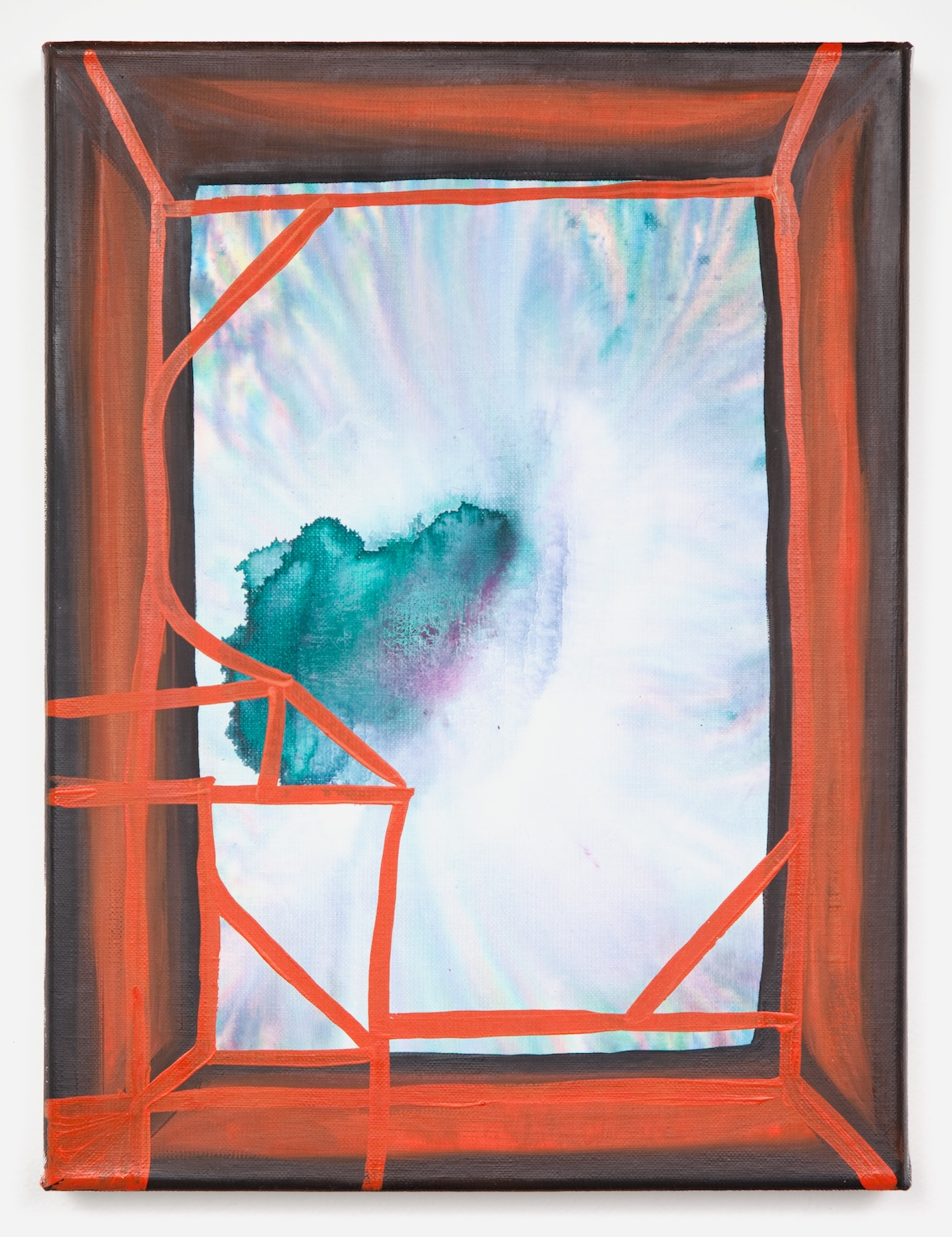 Joanne Greenbaum  Untitled  2011 Oil, acrylic and mixed media on linen 16h x 12w in JG018