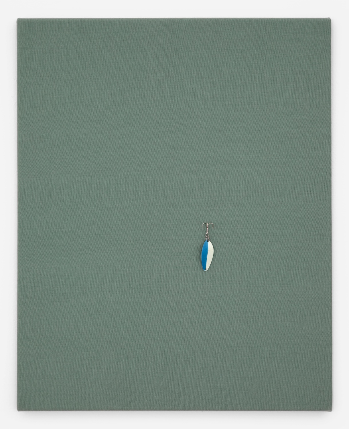 Paul Cowan  Untitled  2011 Fishing lure on canvas 20h x 16w in PC003
