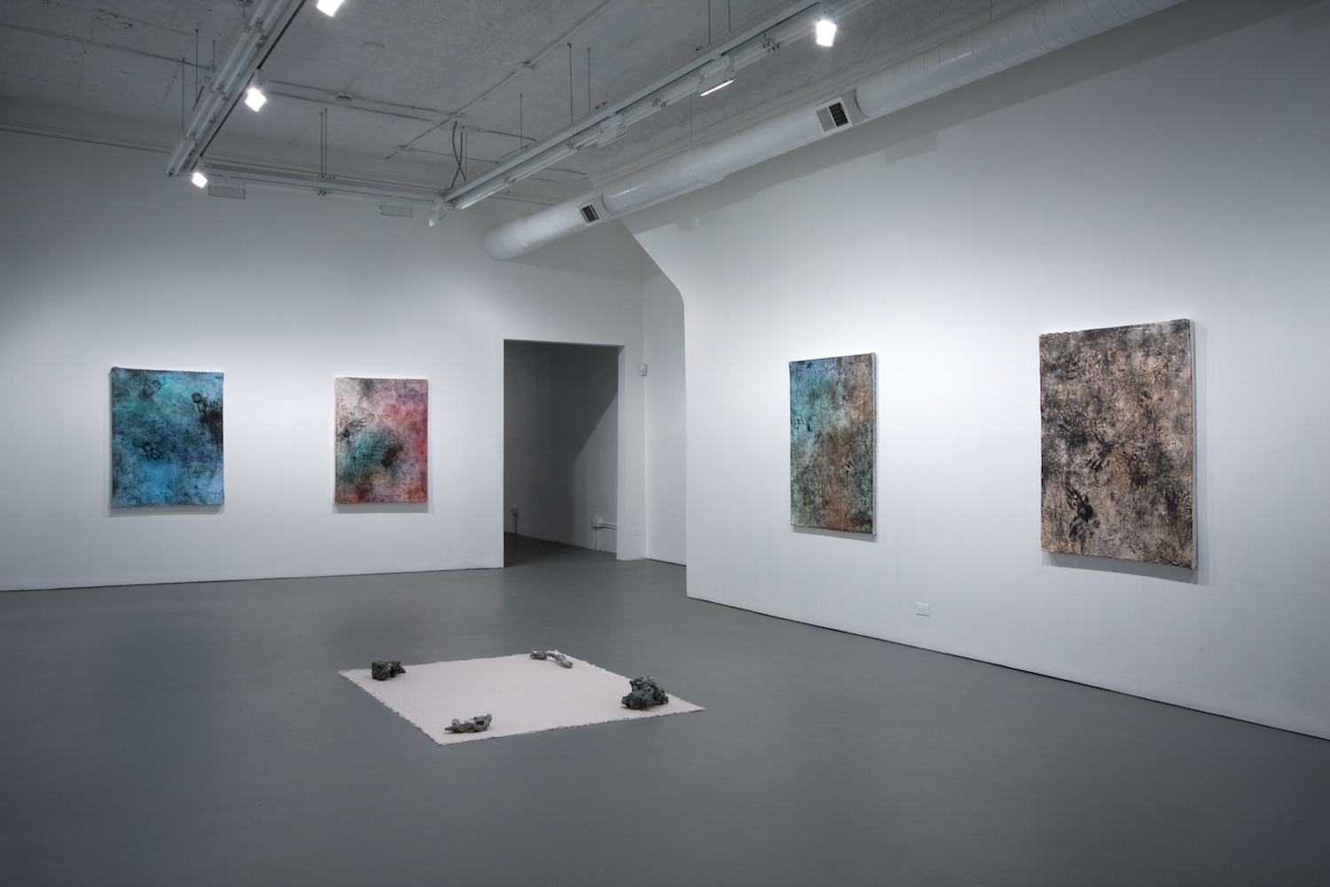 Jay Heikes Subterranean Isle 2011 Shane Campbell Gallery, Chicago Installation View