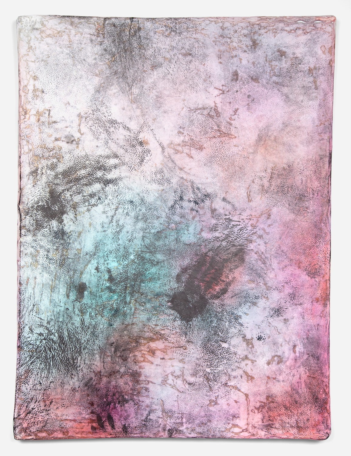 Jay Heikes  Margin Walker  2011 Paper, aluminum, dry pigment, ink, and wood 49 ¼h x 37w in JH032