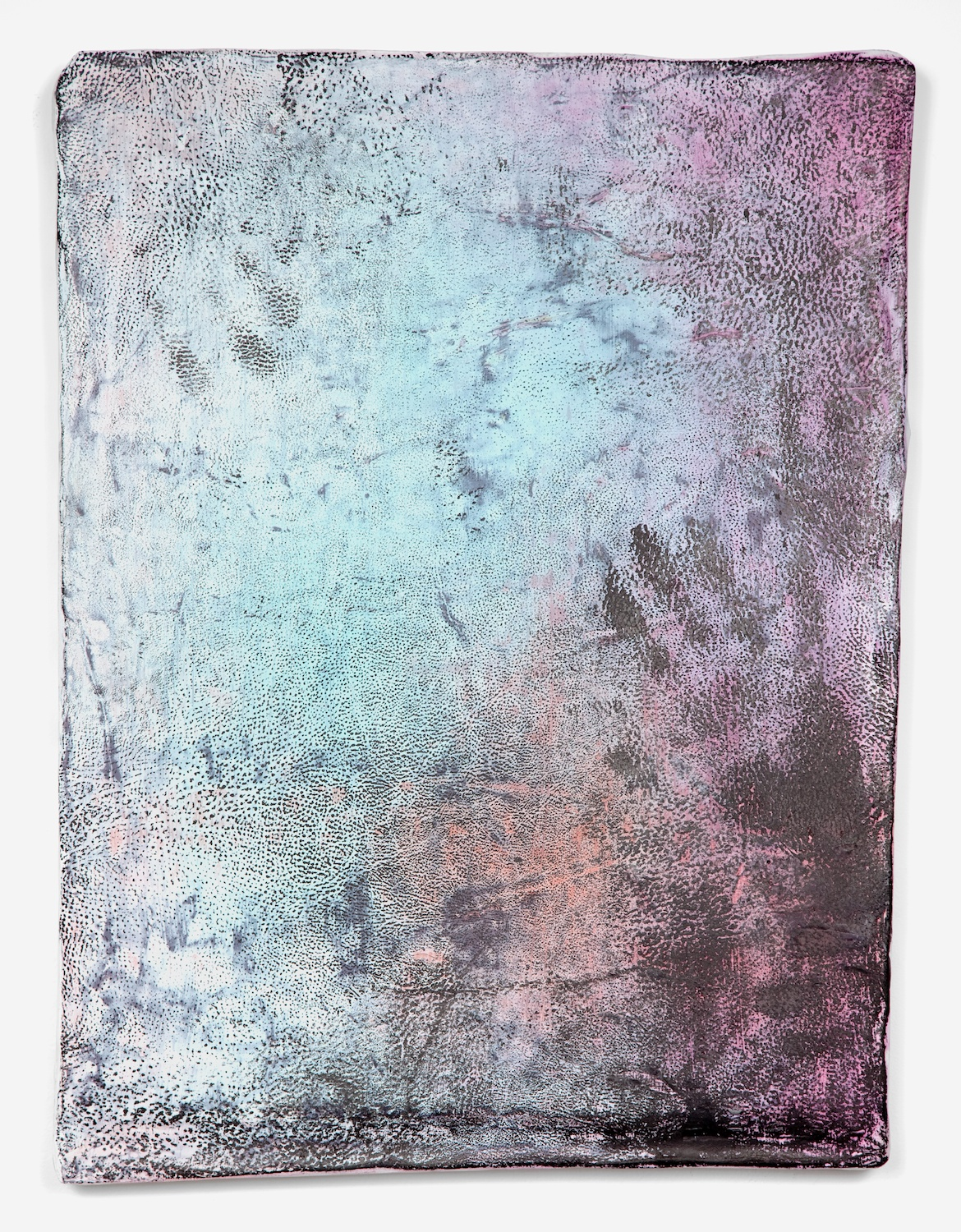Jay Heikes  Purgatory's Chasm  2011 Paper, aluminum, dry pigment, ink, and wood 26h x 19 ½w in H028