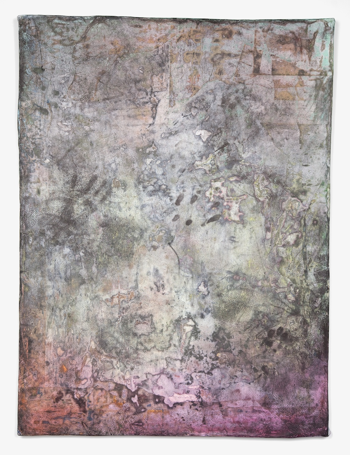 Jay Heikes  Ear of Dionysius  2011 Paper, aluminum, dry pigment, ink, and wood 49h x 36 ¾w in JH029