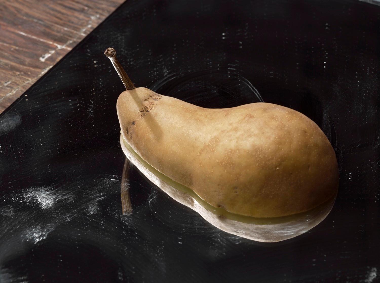 Roe Ethridge  Pear on a Mirror  2011 C-print 33h x 44w in RE007