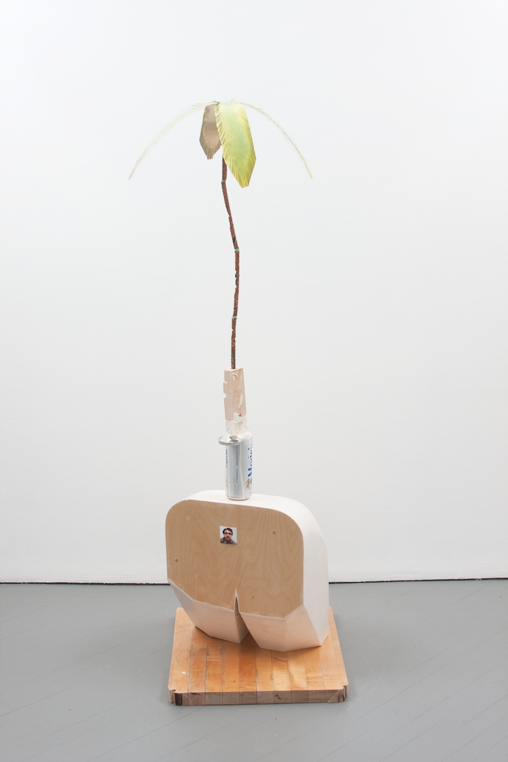 Chris Bradley  Tourist  2011 Aqua resin, wood, foam, cast bronze, aluminum, paint, photograph 63h x 19 ½w x 22 ½d in CB011