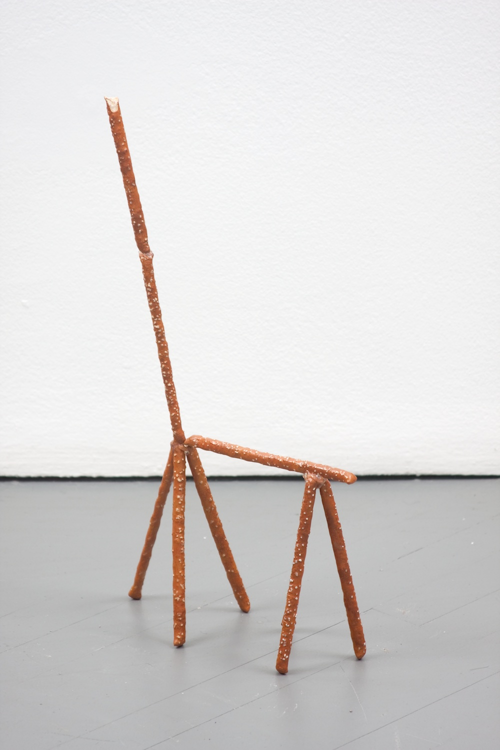 Chris Bradley  Clyde  2011 Painted cast bronze, hot glue 63h x 19 ½w x 22 ½d in CB010