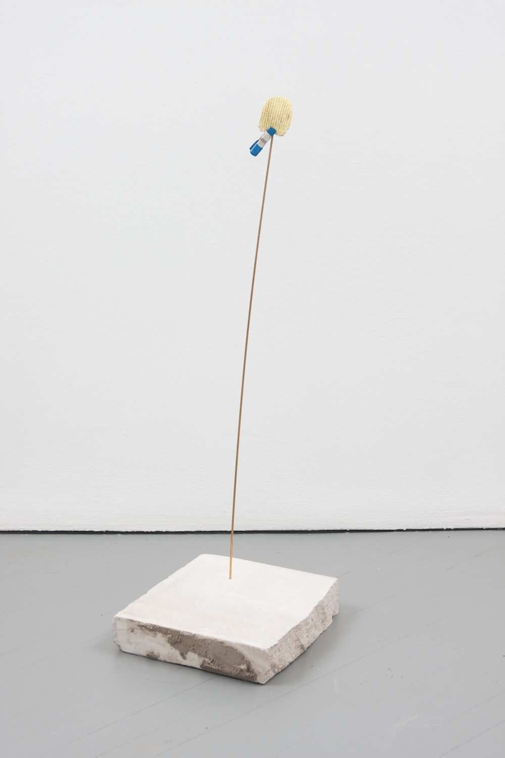 Chris Bradley  Target #4  2011 Painted cast bronze, bronze rod, stone 33h x 12w x 10 ½d in CB004