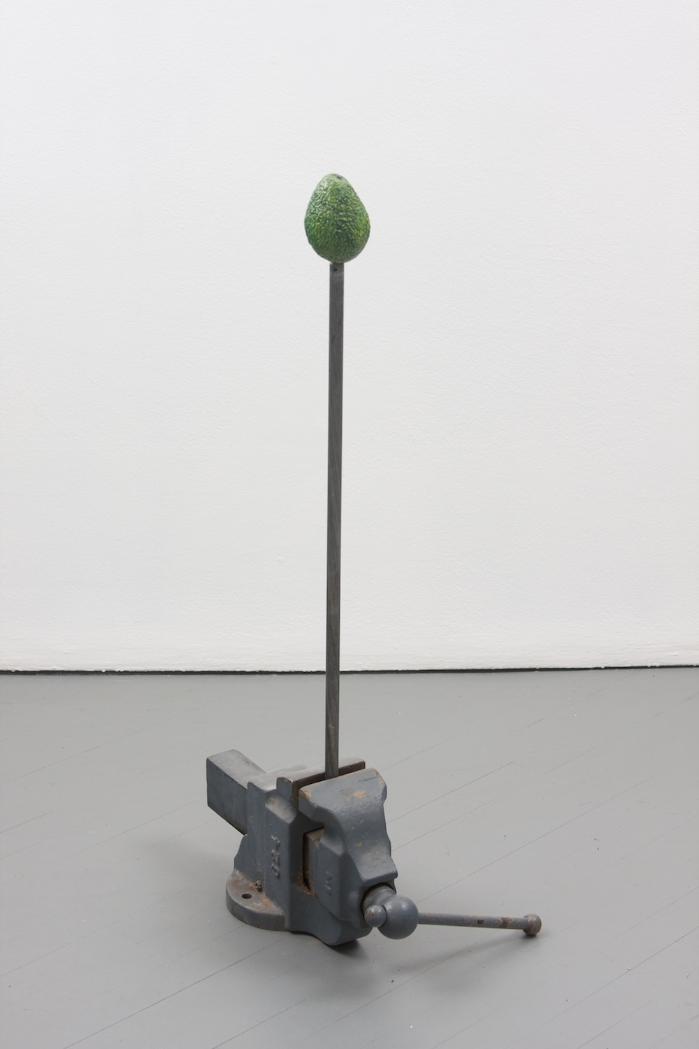 Chris Bradley  Target #3  2011 Painted cast bronze, steel, vise 37h x 9w x 13d in CB003