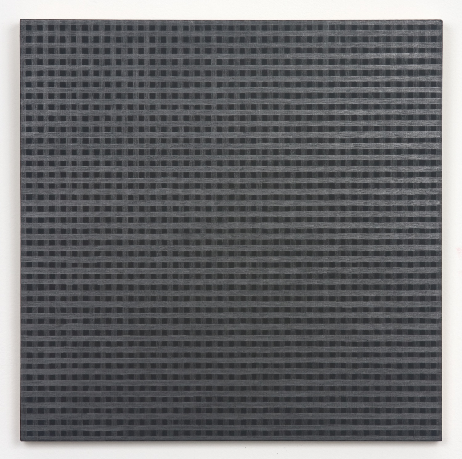 Michelle Grabner  Untitled  2010 Silver and gesso on panel 15h x 16w in MGrab169