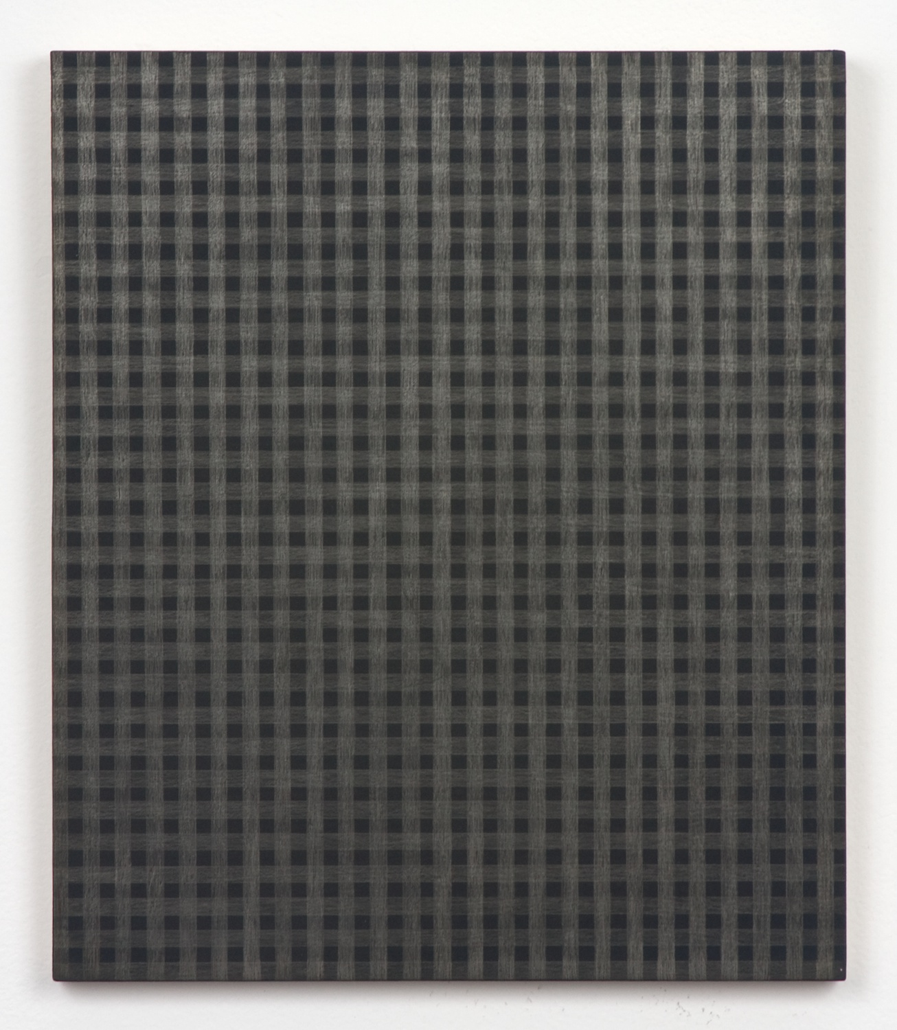 Michelle Grabner  Untitled  2010 Silver and gesso on panel 12h x 10w in MGrab180