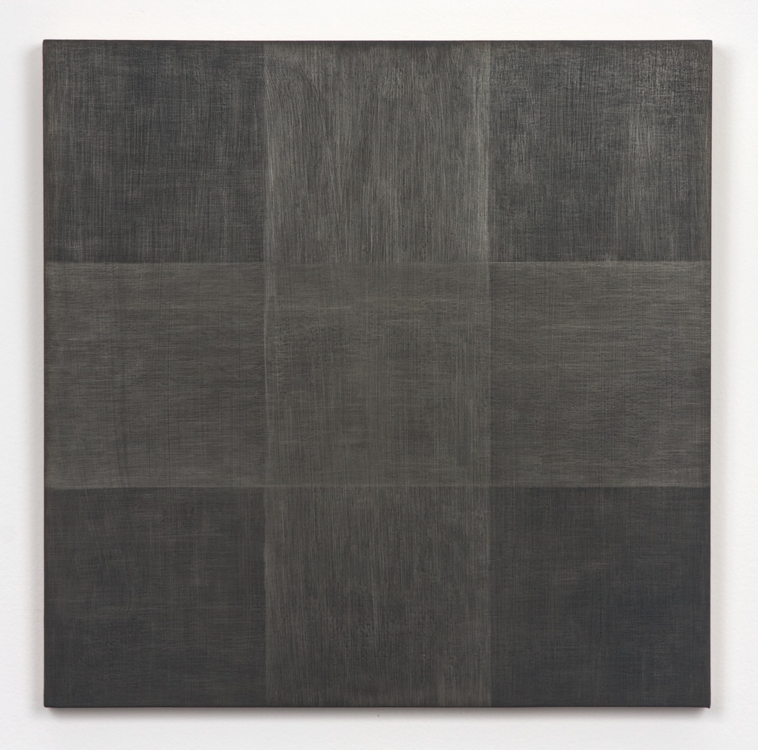 Michelle Grabner  Untitled  2010 Silver and gesso on panel 15h x 15w in MGrab178