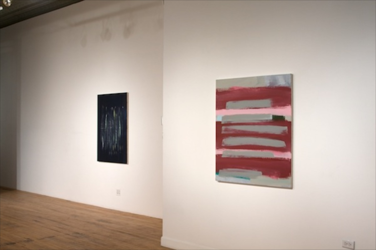Ann Craven, Peter Halley, Jon Pestoni Painting Panel Exhibition 2010 Shane Campbell Gallery, Chicago Installation View