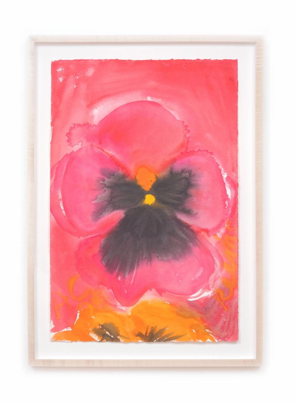 Ann Craven  Pensée #61 (June 4, 2008)  2008 Watercolor on paper 22 ½h x 15w in AC083
