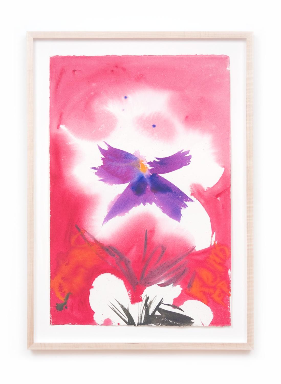 Ann Craven  Pensée #60 (June 3, 2008)  2008 Watercolor on paper 22 ½h x 15w in AC082
