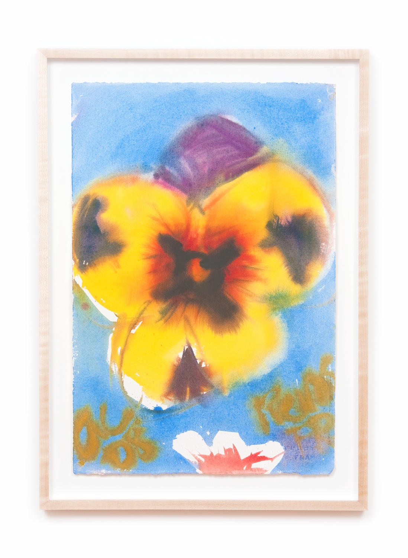 Ann Craven  Pensée #30 (June 1, 2008)  2008 Watercolor on paper 22 ½h x 15w in AC079