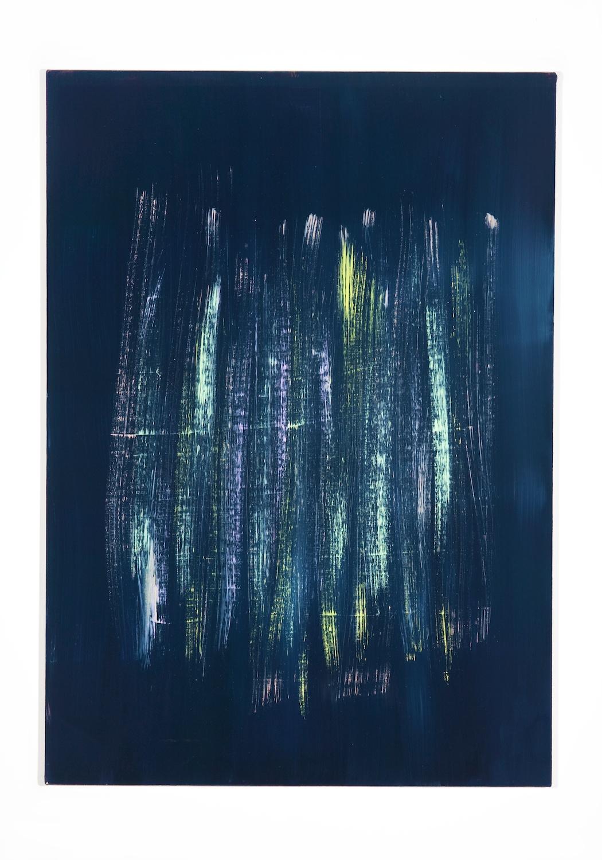 Jon Pestoni  Pastel Sweep  2010 Oil on canvas 45 ¼h x 32w in JP027