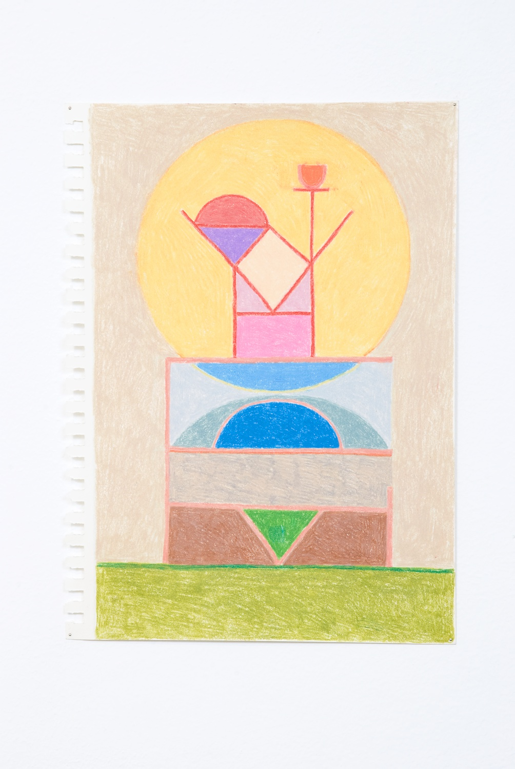 Elijah Burgher  Promise Delivery  2009 Colored pencil on paper 12h x 8w in EB013