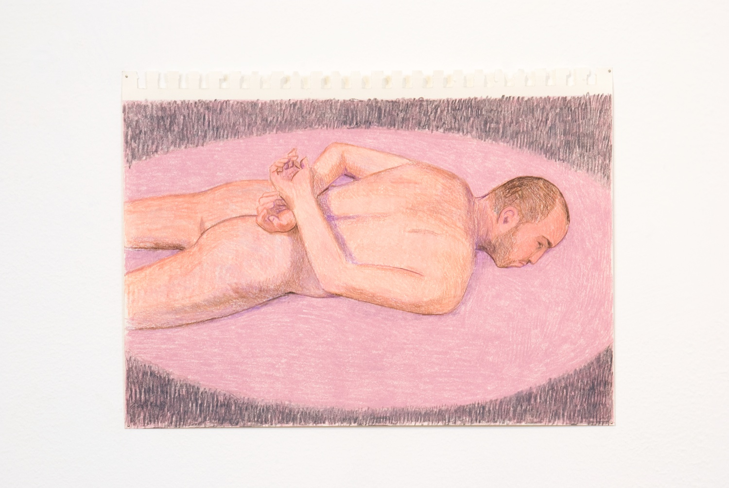 Elijah Burgher  JCDC as Sebastian  2009 Colored pencil on paper 8h x 12w in EB003