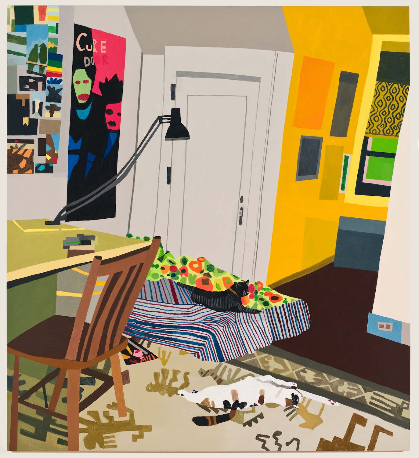Jonas Wood  Untitled (Alexis's Room)  2009 Oil on canvas 66h x 60w in JW054