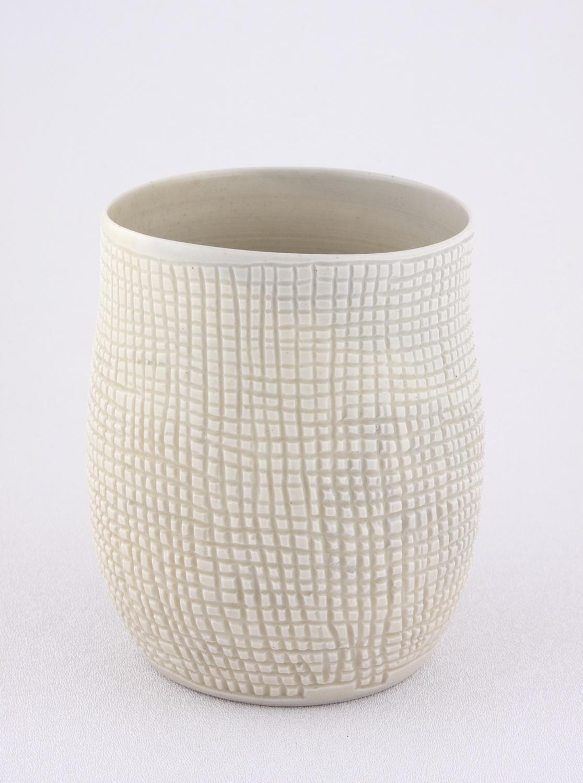 Shio Kusaka  Untitled (grid 2mm)  2009 Porcelain 5 ½h x 3 ½w in SK028