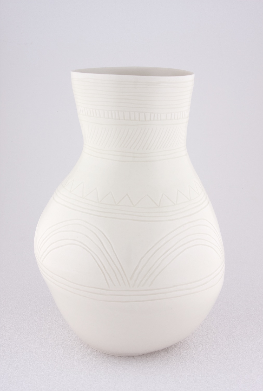 Shio Kusaka  Untitled (yayoi carving 1)  2009 Porcelain 10 ¾h x 7 ½w in SK024