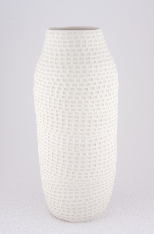 Shio Kusaka  Untitled (brick carving 1)  2009 Porcelain 11 ⅜h x 5w in SK020