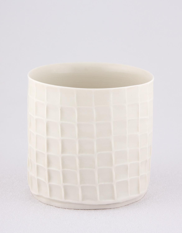 Shio Kusaka  Untitled (cup)  2009 Porcelain 3 ¼h x 3 ¼w in SK010