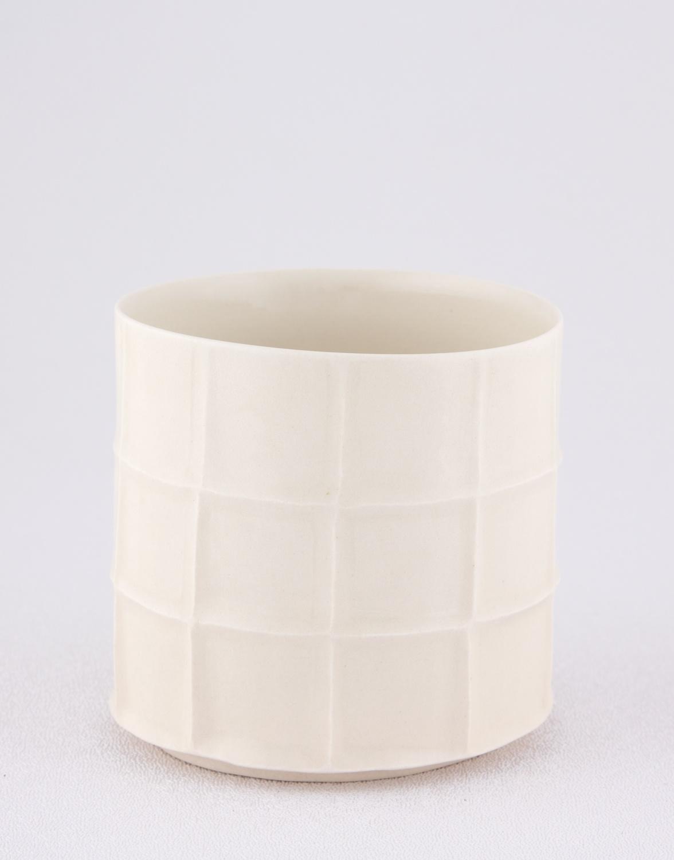 Shio Kusaka  Untitled (cup)  2009 Porcelain 3 ⅛h x 3 ¼w in SK012