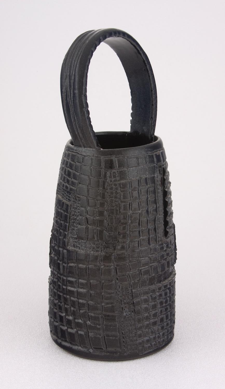 Shio Kusaka  Untitled (clay basket 1)  2009 Porcelain 10 ¾h x 4 ½w in SK001