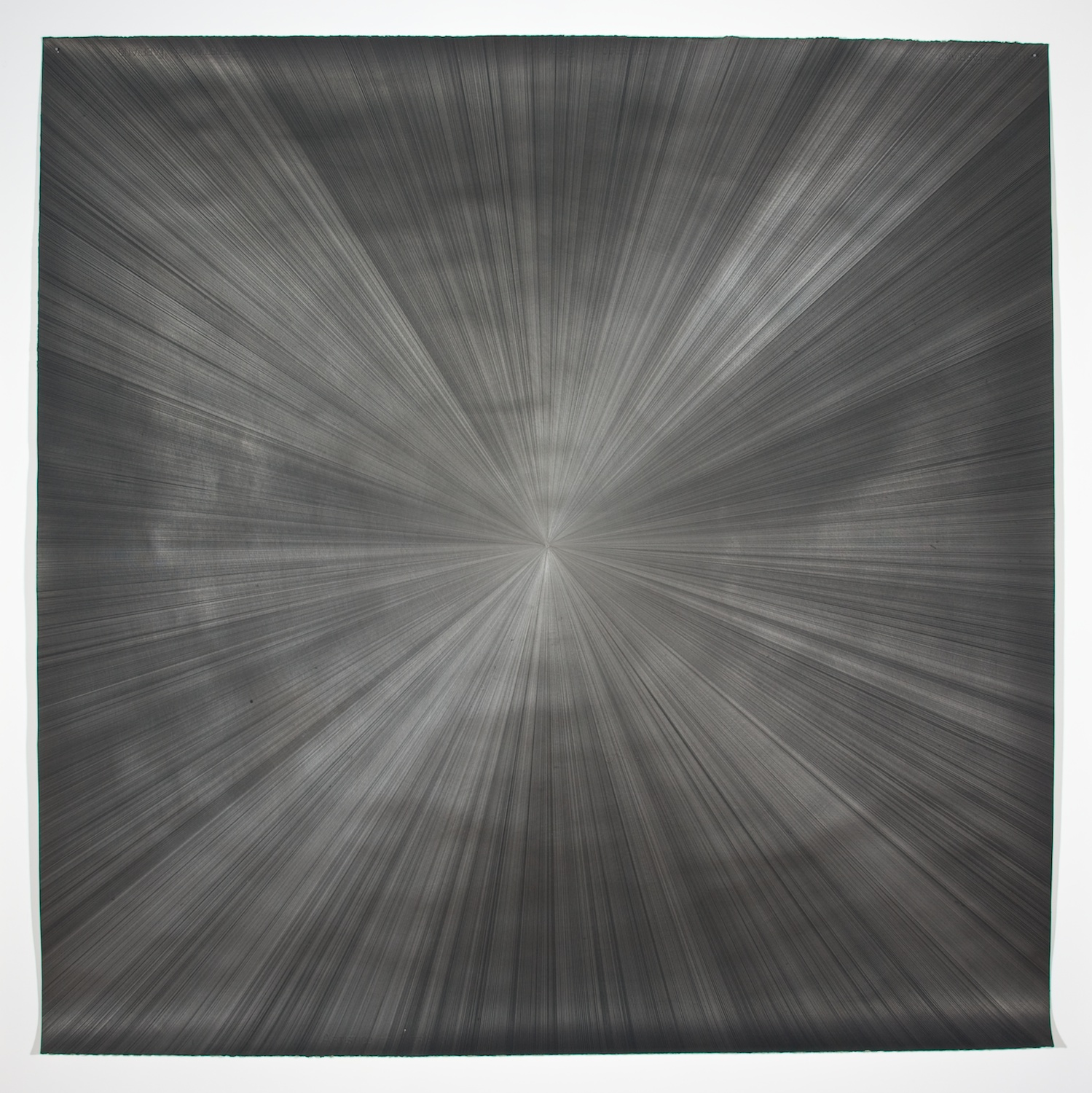 Michelle Grabner  Untitled  2008 Silver and gesso on paper 55h x 55w in MGrab143