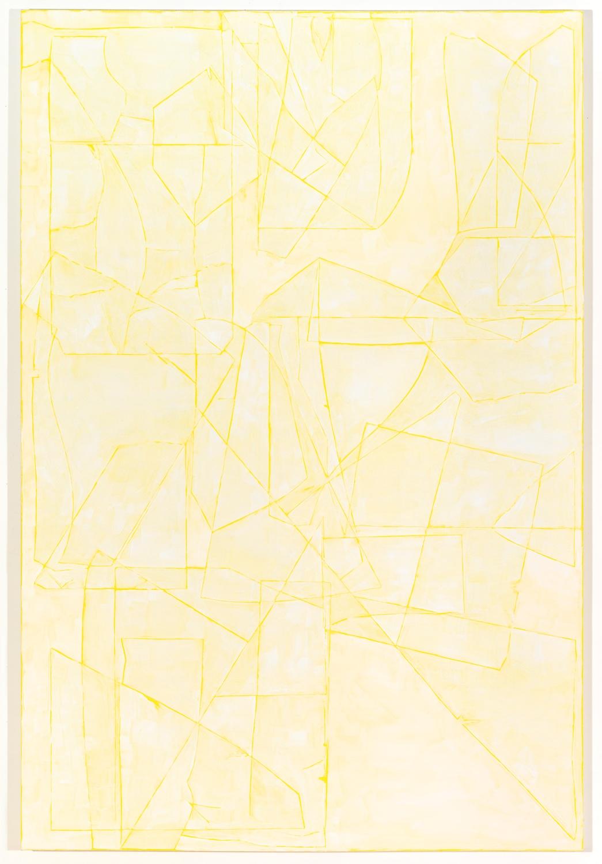 Zak Prekop  Untitled  2008 Oil and paper on canvas 24h x 18w in ZP019