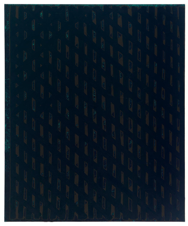 Zak Prekop  Wooley Bear Memory  2008 Oil and paper on canvas 36h x 30w in ZP030