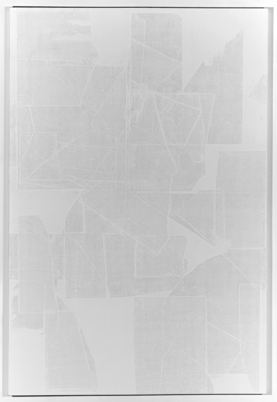 Zak Prekop  Untitled (Paper sculpture)  2008 Oil and paper on canvas 72 ½h x 48 ½w in ZP018