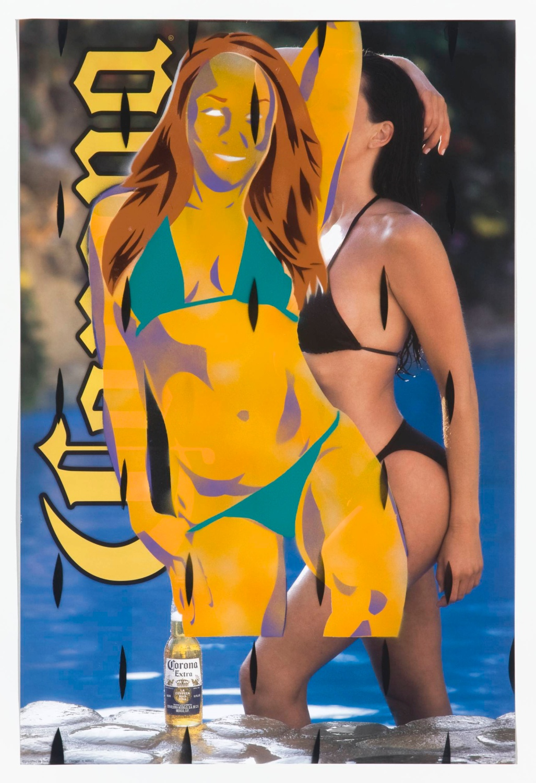 Jason Meadows  Untitled (Corona)  2008 Spray-paint on poster 27h x 19w in JM011