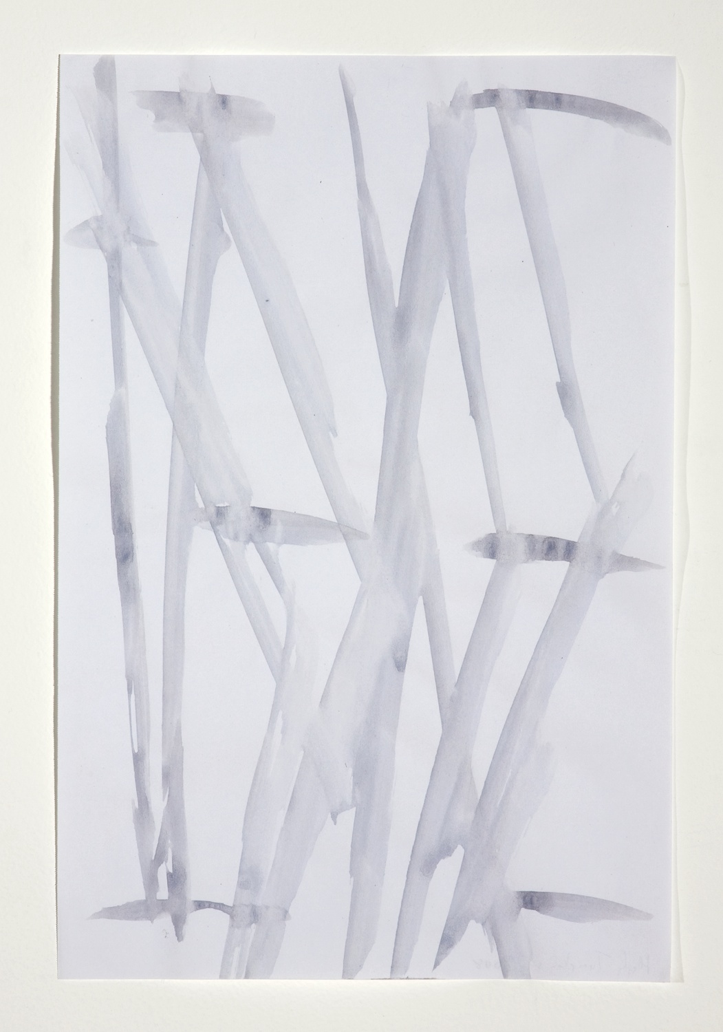 Hayley Tompkins  Re  2008 Gouache on paper 11 ¾h x 7w in