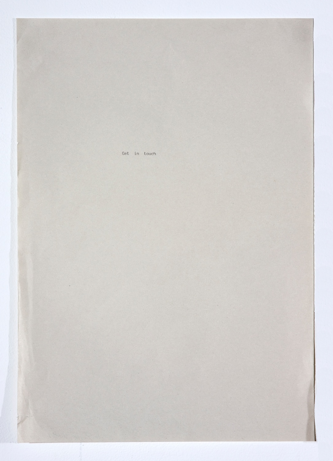 Sue Tompkins  Untitled  2008 Type on paper 11h x 8 ½w in