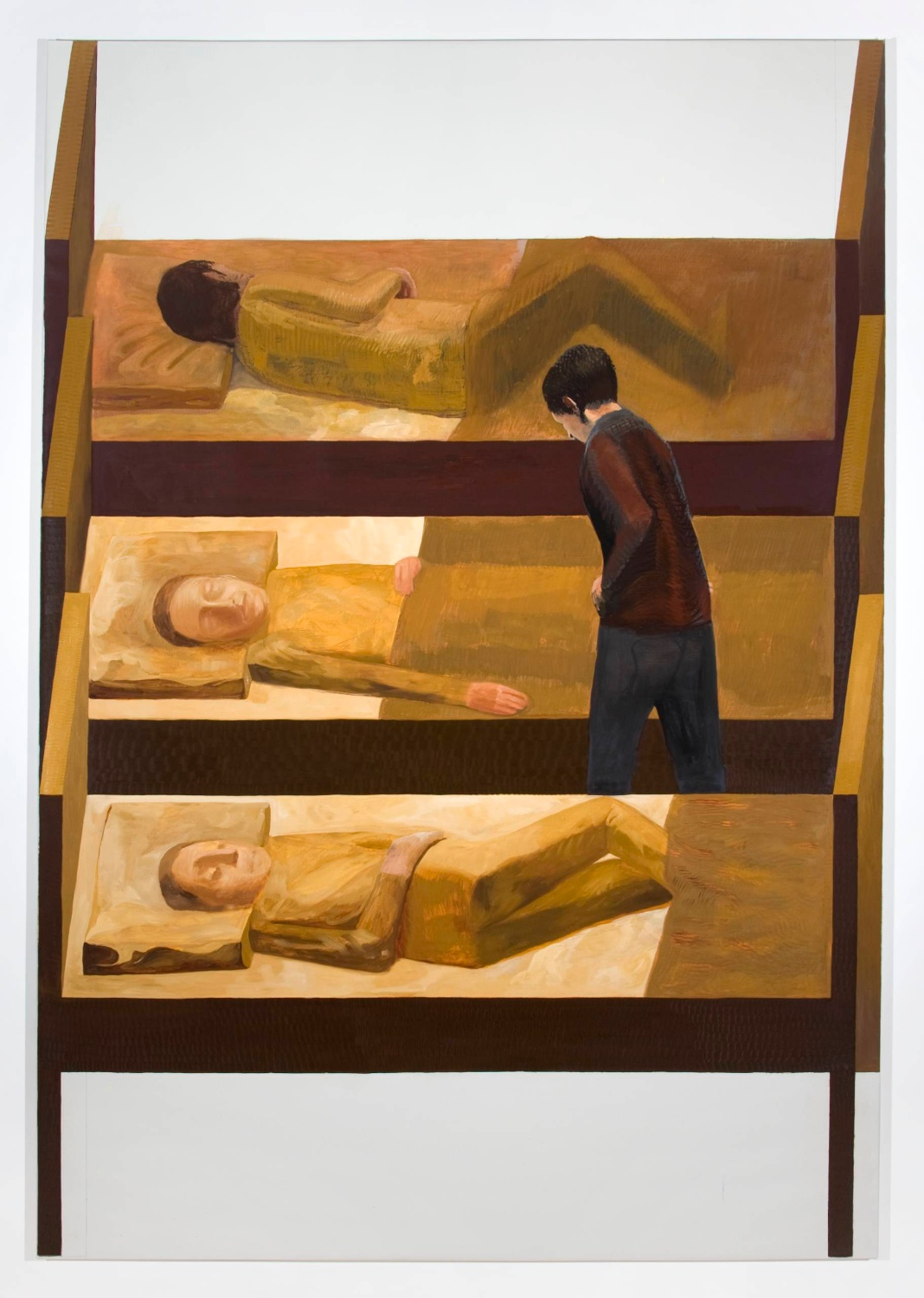 Jesse Chapman  The Beds  2008 Oil on linen 97h x 67w in