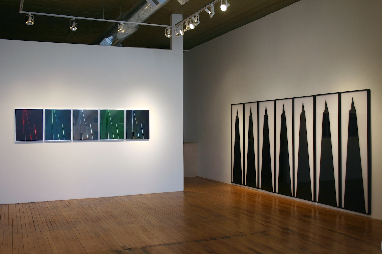 Pentti Monkkonen, Anthony Pearson, Michael Phelan, Eileen Quinlan Seriality 2007 Shane Campbell Gallery, Chicago Installation View