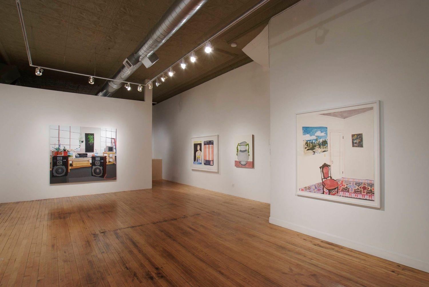 Jonas Wood 2007 Shane Campbell Gallery, Chicago Installation View