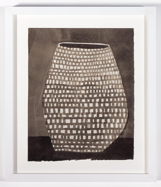 """Jonas Wood Pot 6 2007 Ink on paper 16"""" x 13"""" JW003"""