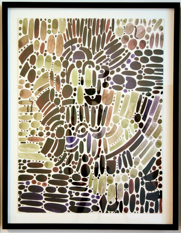 """William J. O'Brien Untitled 2006 Ink on board 19 ⅞"""" x 14 ⅞"""" WOB049"""